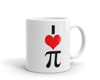Funny Math Geek Gift   I Love Pi Coffee Mug for Pi Day