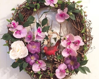 """18"""" Cardinal of Passion wreath"""