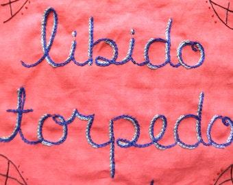 Libido vigoureuse, tapisserie, cadeau petit ami, petite amie cadeau art de déclaration, Art brodé, cadeau de Couples