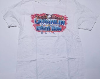 Laughlin River Run Vintage White T Shirt L