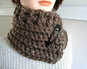 CROCHET scarf - cowl-scarf-headband-headwrap, wear it 3 ways, one size fits all, num.516, easy crochet