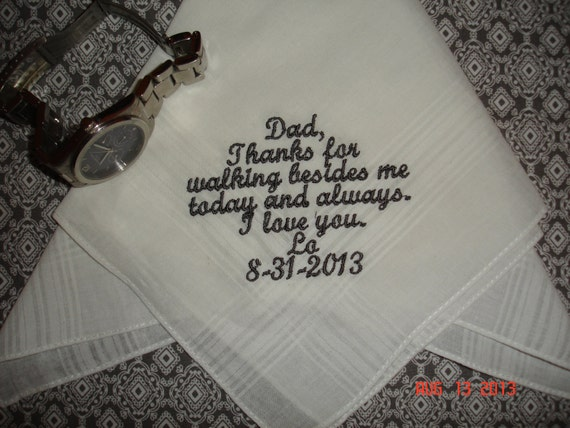 Personalized Wedding Gifts For Groom: Personalized Wedding Handkerchief Gift Hankie Embroidered