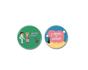 I Dream Of Jeannie Buttons set of 2! (31mm, badges, pins, movies, tv series)