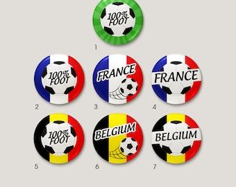 """""""100% football"""" Football badge - individually"""