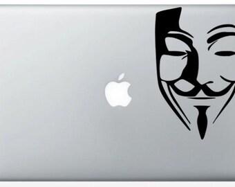 Stickers MacBook Anonymous