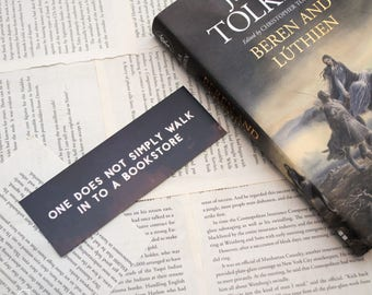 One Does Not Simply Walk to a Bookstore Bookmark