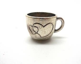 Great charm Cup with silver hearts
