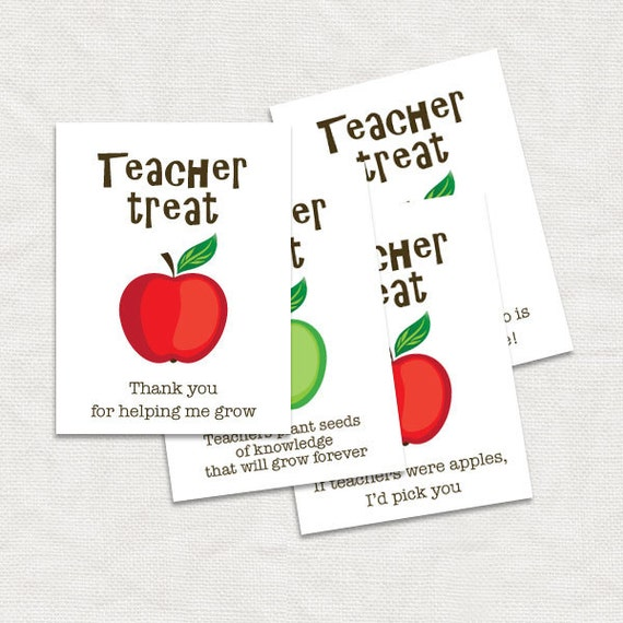 Teacher Thank You Gift Tags