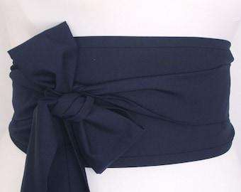 Deep Dark Navy Indigo Ink Blue Obi Belt / Sash Oriental Japanese Geisha style by loobyloucrafts ... Kimono Yukata belt wrap