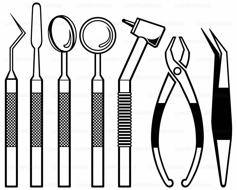 dental equipment svg dental clipart dental svg dental silhouette rh etsystudio com dental clipart png dental clipart images
