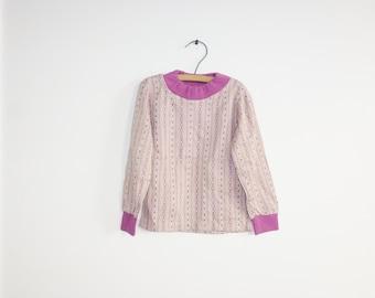 Vintage Tan and Purple Shirt