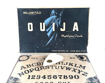 Ouija Board - 1960's - William Fuld - Nostalgia Game - Talking - All Knowing - Functional - Home Office Decor - Photography Prop - Vintage
