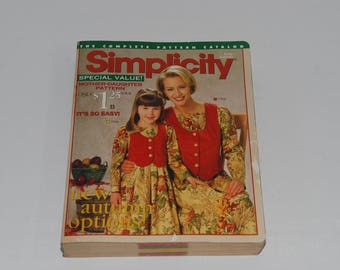 Simplicity The Complete Pattern Catalog Early Autumn 1997 Counter Catalog