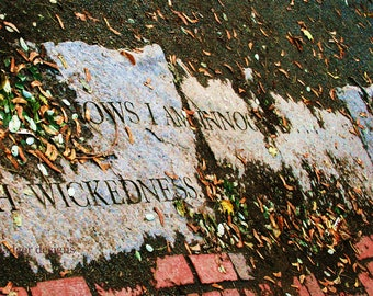 Salem Witch Trials, Salem, Massachusetts, Witch Trial Memorial, color photography,  Photographers of Michigan, PoE team