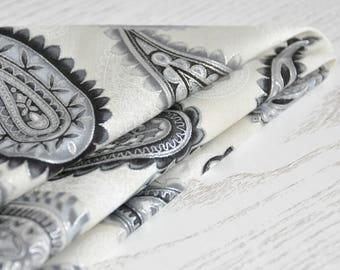 Paisley Pocket Square. Handkerchief for Men