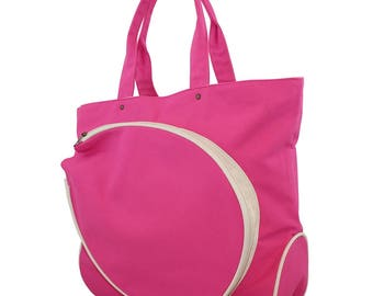 Pink Monogram Canvas Tennis Bag, monogram canvas, large, great gift, monogram canvas bag, tennis bag, personalized tennis, monogrammed gift