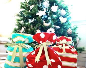 Blank Santa Sacks / Christmas Sacks/ Sacks / Christmas Tree Decorations / FULLY lined