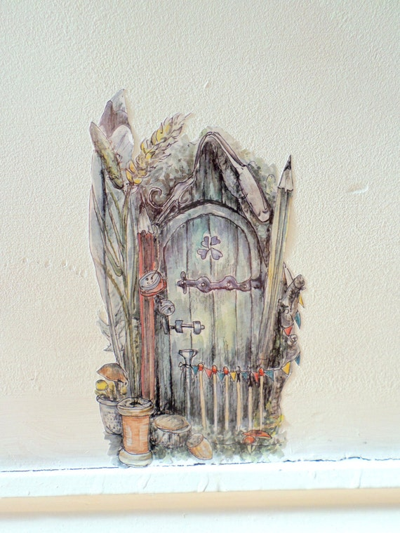 Whimsical fairy door fairy bedroom decor fairy wall sticker