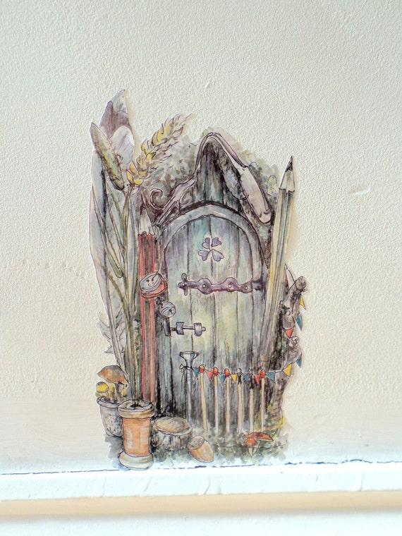 Whimsical Fairy Door Fairy Bedroom Decor Fairy Wall Sticker