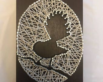 Fantail Bird String Wall Art