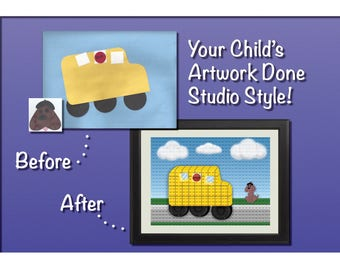 Your Child's Art Done Studio Style!