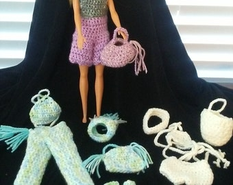 new Barbie Doll Clothes 3 sets 12 pieces