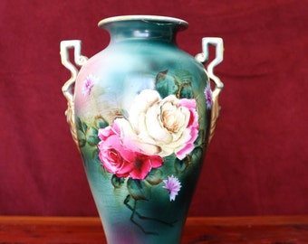 Antique Hand Painted Royal Nippon Japanese Vase