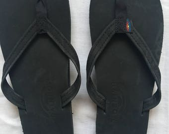 Rainbow ladies leather sandals size 7.5-8.5