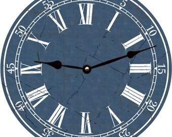 Navy Blue Clock