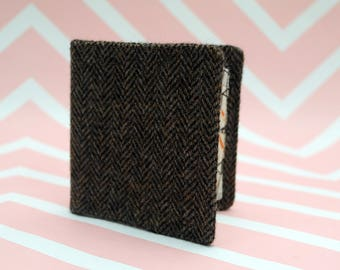 Men's Donegal Tweed wallet with coin section - billfold - money clip