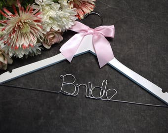 "One-Tier ""Bride"" Wedding Hanger"