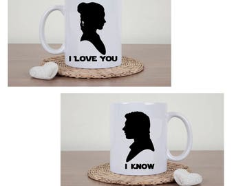 Star Wars - I Love You, I Know Couples Mugs