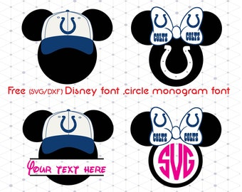 Mickey Indianapolis Colts svg,dxf,png/Mickey Indianapolis Colts clipart