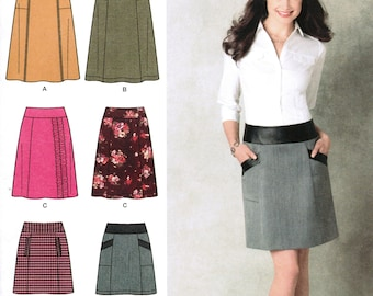 SIMPLICITY 2152 sewing pattern. Misses skirt pattern.  Size 14-16-18-20-22  New.  Uncut.  Factory folded.