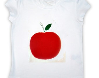 Girl's Apple T-Shirt / Childrens Clothes / Tee Shirt / Baby Shirt