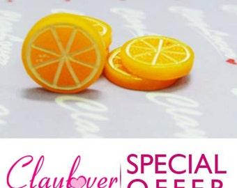 10 pcs. Sliced Orange Cabochon (XH-519)