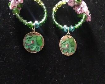 Bulbasaur earrings