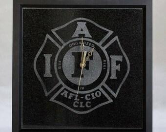 Absolute Black Granite Framed Clock.