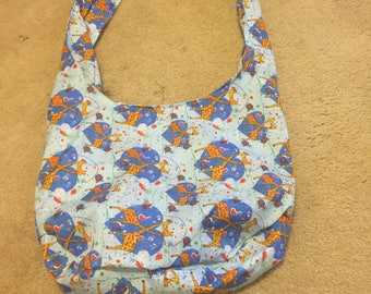 Blue Giraffe Hobo Bag