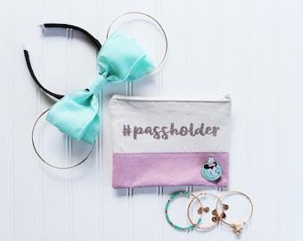 """Color Block """"Passholder"""" bag"""