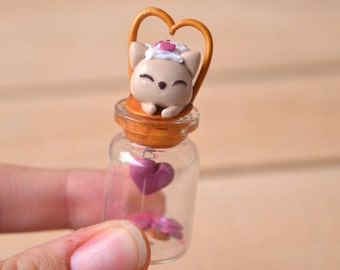 Valentine's day cat figure tabby cat miniature kitten