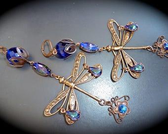 "Earrings ""Art Deco: night-Saint Exupéry flight"""