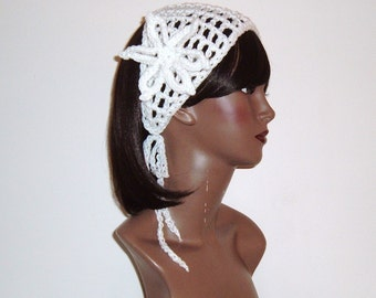 Makeeda Yohari Headband/Headwrap with Detachable Flower in White Baby thru Adult Sizes Available