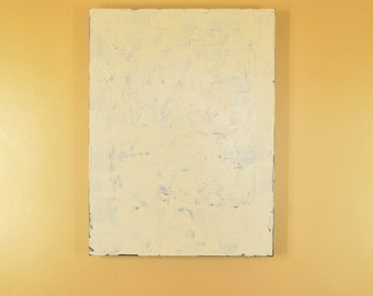 "Cream White Abstract Painting White Acrylic Painting Abstract Colorfield Art Minimalist Painting 24"" x 18"" Original Painting Home Wall Decor"