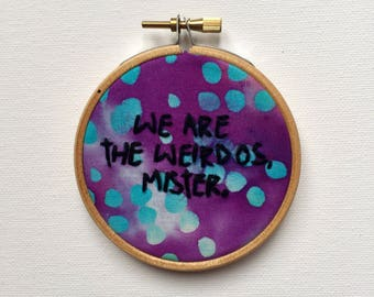 We are the weirdos mister, The Craft Movie, 90s goth, wicca embroidery, pagan embroidery, witch embroidery, magic, witchcraft, Fairuza Balk