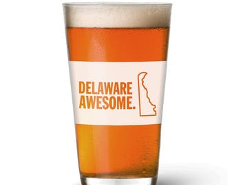 Delaware Awesome Pint Glass