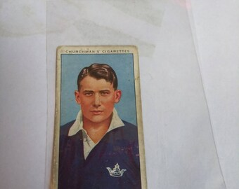 Nice Antique Late 1920's Churchman's Tobacco Card (authentic)