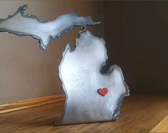 Shape of Michigan Cut Steel