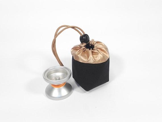 Yo-Yo pouch - 'Cube' // Black & Gold