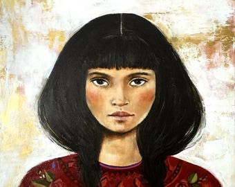 woman portrait art Ramona print